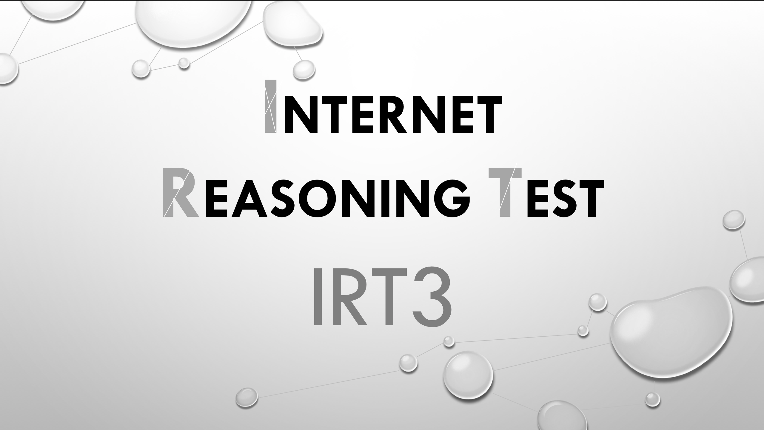 Internet Reasoning Test IRT 3